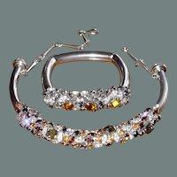 50% off Shop at Home Sale Italian Designer Casio Linea Haute Couture Crystal Collar Necklace Bangle Set