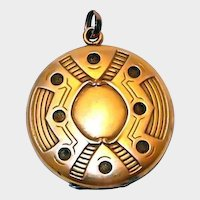 Art Nouveau Gold Filled Locket; Either English or Finnish
