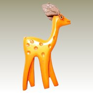 Martha Sleeper Carved Bakelite Butterscotch Deer