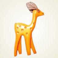 Martha Sleeper Carved Bakelite Butterscotch Deer