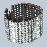 Last Chance SALE Wide Rhinestone Bracelet Eye Popping/Bridal