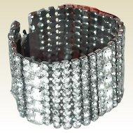 Wide Rhinestone Bracelet Bridal Prom Eye Popping
