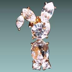 LEAVING SHOP the END of MAY Avon Rhinestone Bunny Rabbit Tack Pin