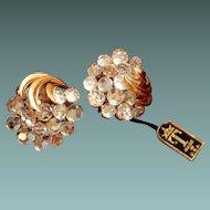 Trifari Crystal Earrings with Original Hang Tag