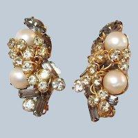 Hobe Earrings Smoke Stones Faux Pearls Last Chance SALE