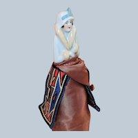 Art Deco Porcelain Half Doll Pin Cushion