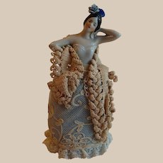 German Spanish Dancer Half Doll Pin Cushion