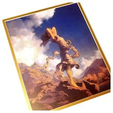 """Ecstasy"" Maxfield Parrish Art Deco Lithograph Print"