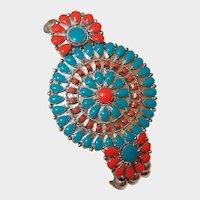 Costume Southwestern Style Needlepoint Bead Bracelet