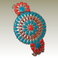 Costume American Indian Needlepoint Bead Bracelet