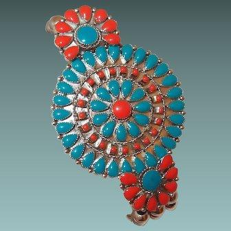 Costume American Indian Needlepoint Bead Bracelet