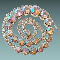 Large Pink Aurora Borealis Bridal Necklace