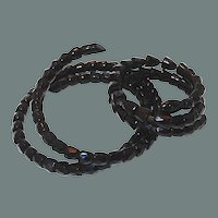 1800s Coiled French Jet Snake Necklace Bracelet Set Purchase 50% off Shop at Home Sale