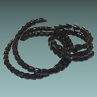 1800s Coiled French Jet Snake Necklace and Bracelet