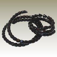 1800s Coiled French Jet Snake Necklace Bracelet Set FINAL REDUCTION SALE