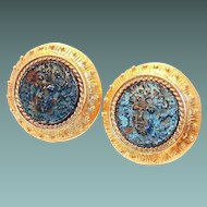 Bronze Coin Earrings by New York's Madison Ave. Jaded Company