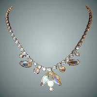 Aurora Borealis Evening Rhinestone Necklace
