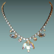 Aurora Borealis Evening Rhinestone Necklace