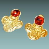 Designer Mary McFadden Egyptian Style Earrings