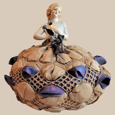 Original Art Deco Half Doll German Pin Cushion