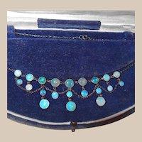 Gorgeous Victorian Festoon Opal Necklace in Original Box