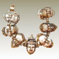 Asian Seven Gods of Good Fortune Bracelet FINAL REDUCTION SALE