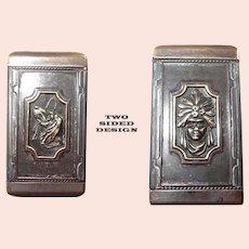 50% off Shop from Home Sale Two Sided Match Safe Vesta Case Hound/Riding Crop/Art Nouveau Princess
