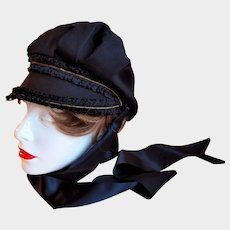 Authentic Art Deco 1920s Ladies Driving Hat