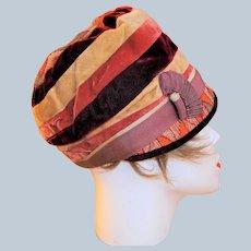 Rare Art Deco Cloche Hat by Henny Paris/New York
