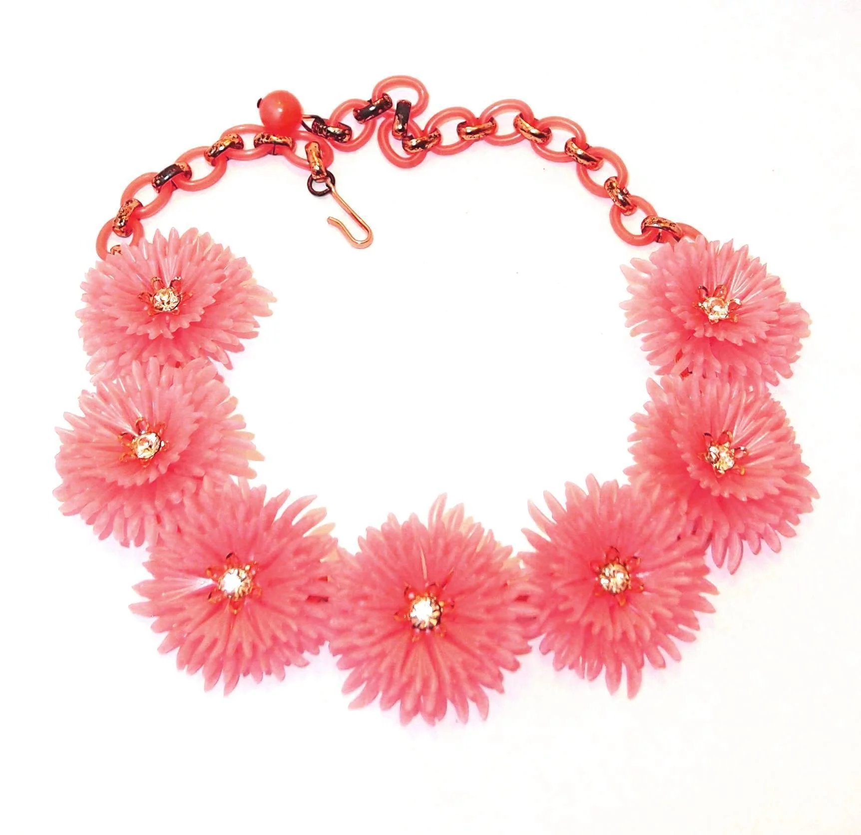 Pink lisner flower necklace plastic with rhinestone centers pink lisner flower necklace plastic with rhinestone centers click to expand mightylinksfo