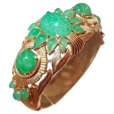 Trifari Jewels of India Simulated Jade Bracelet FINAL REDUCTION SALE