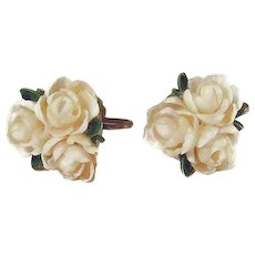 Final Reduction SALE Flower Earrings Hand-made with Sea Shells