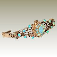 Antique 14kt Gold Bracelet with Precious Opals FINAL REDUCTION SALE