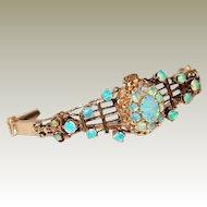 Antique 14kt Gold Bracelet with Precious Opals FINAL REDUCTION SALE