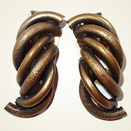 Looped Textured and Smooth Metal Dress Clips