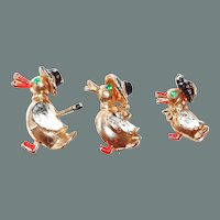 50% off Shop at Home Sale Sweet Duck Family Scatter Pin Set of Three