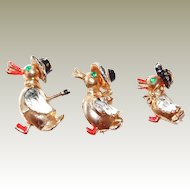 Sweet Duck Family Scatter Pin Set of Three
