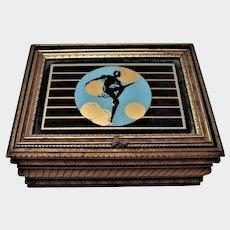 Art Deco Dancer Silhouette Dresser/Jewelry Box