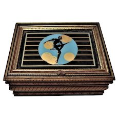 Art Deco Dancer Silhouette Dresser/Jewelry Box