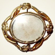Swivel Victorian Mourning Brooch Large Unused Rolled Gold