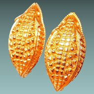Paris Alligator Skin Motif Earrings by Dominique Aurientis