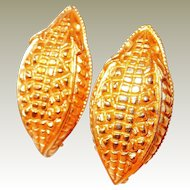 Paris Alligator Skin Motif Earrings by Dominique Aurientis FINAL REDUCTION SALE