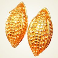 Paris Alligator Skin Motif Earrings by Dominique Aurientis
