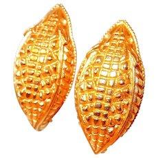 Paris Alligator Skin Motif Earrings by Dominique Aurientis FINAL REDUCTION SALE