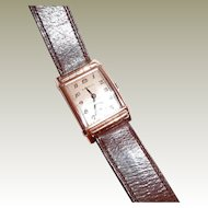 Art Deco Benrus Shock-Absorber Mens Wrist Watch Rose Gold Plate FINAL REDUCTION SALE