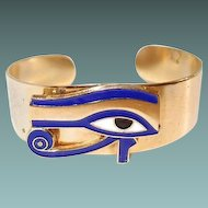 Egyptian Eye of Ra Cuff Bracelet