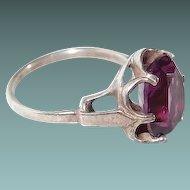 Sterling Sarah Cov. Purple Ring Adjustable