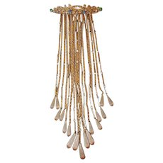 Runway Foot Long Dangle Brooch FINAL REDUCTION SALE with 17 Watch Chains, Fobs