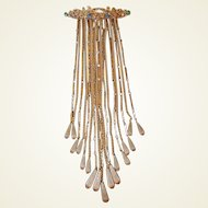 Runway Foot Long Dangle Brooch with 17 Watch Chains, Fobs