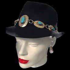Authentic Navajo Turquoise Hatband Belt Fashion Accessory